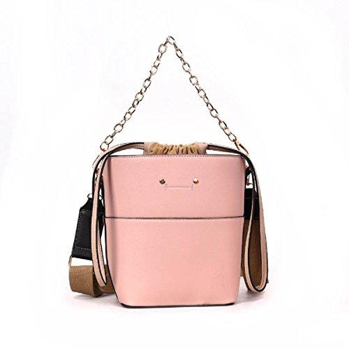 Bolso grande del bolso de hombro de la correa de hombro de la capacidad grande de las mujeres Bolso cruzado de Crossbody Pink