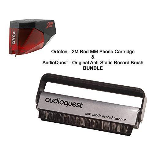 Ortofon - 2M Red MM Phono Cartridge & AudioQuest - Original Anti-Static Record Brush BUNDLE