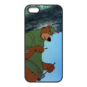 iPhone 4 4s Cell Phone Case Black Disney Robin Hood Character Little John Kxtb