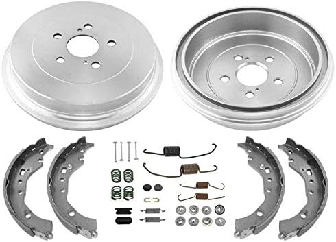 Premium OE Replacement Brake Drums AND Shoes REAR KIT