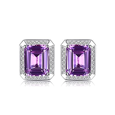 Jewelrypalace Men Luxury 8.6ct Created Alexandrite Sapphire Cufflinks 925 Sterling Silver