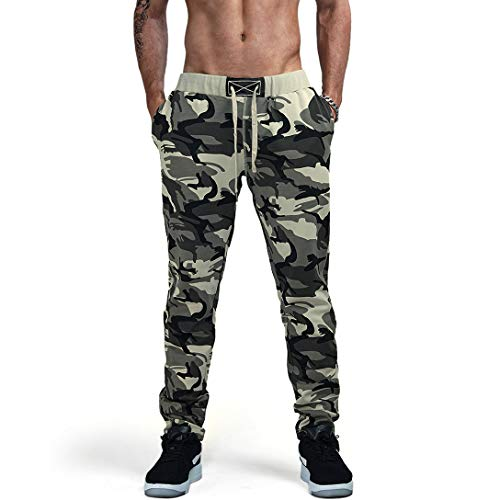 (AIMPACT Camouflage Jogger Pants for Men Casual Sweatpants Slim Fit Active Elastic Cotton Jogging Fashion Male Track Pants(XXL))