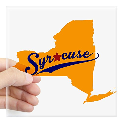 Syracuse Orange Photo - CafePress Syracuse, NY Sticker Square Bumper Sticker Car Decal, 3