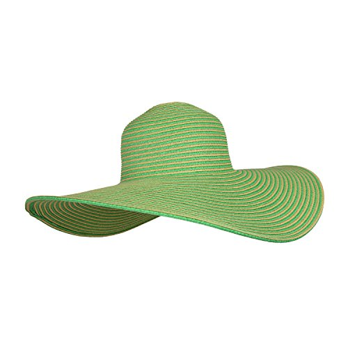 green-and-tan-floppy-straw-wide-brim-beach-hat-adjustable-upf-50-sun-protection