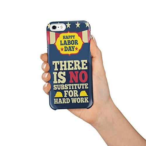 (Durable Phone Case for iPhone 6/iPhone 6s, Happy Labor Day Poster Stylish Phone Shell Shockproof Protective Back Cover with Tempered Glass Screen Protector,)