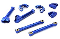 Integy RC Hobby OBMBR648COMBO4BLUE Billet Machined Stage 4 Preformance Combo Package for Axial 1/10 Yeti Rock Racer