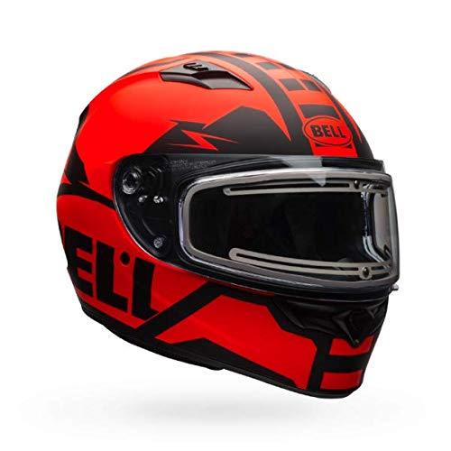 (Bell Qualifier Matte Orange/Black Snowmobile Helmet with Electric Shield - X-Large)