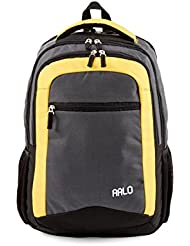 AALO School/Everyday Use Backpack with Computer Compartment Durable & Sturdy with Comfort Strap in Black and Yellow...