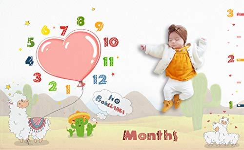 Llama Baby Monthly Milestone Blanket Large 60