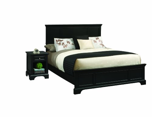 Home Styles 5531-6013 Bedford Bed Frame and Night Stand, King, (Panel Footboard Nightstand Set)
