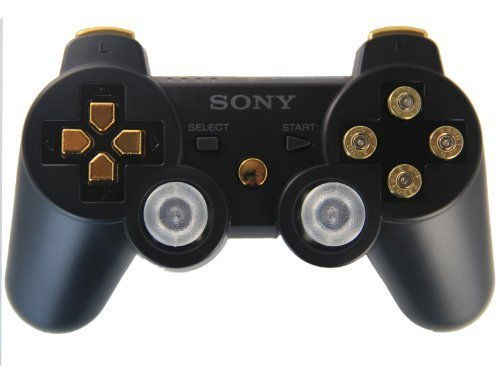 Ps3 Black/gold Bullet Buttons Rapid Fire Modded Controller 30 Mode for Black Ops 2 Cod Mw3 Sniper Breath Jump Shot Jitter Drop Shot Fast Reload Quick Scope (Call Of Duty Black Ops 2 Sniper)