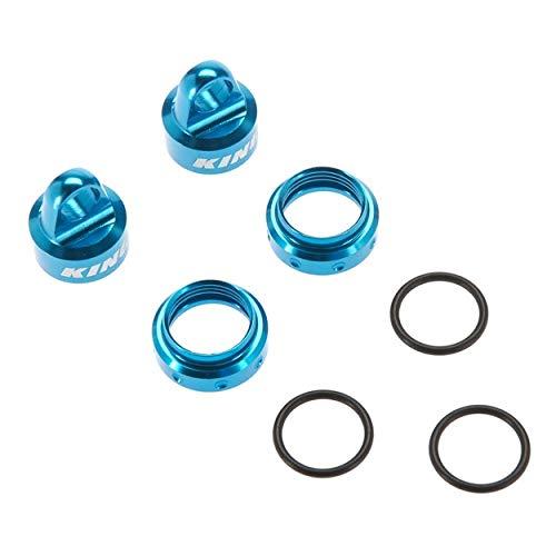 Axial King Shocks Aluminum Caps Collar Set 12mm Blue, AXIC3430