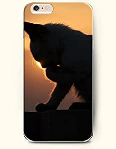 iPhone 6 Plus Case 5.5 Inches with the Design of Cat Meditating