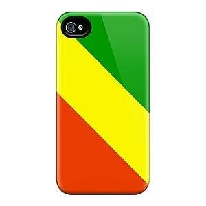 New Arrival ZQa31067vOUZ Premium Iphone 5/5S Cases(republic Of The Congo Flag)