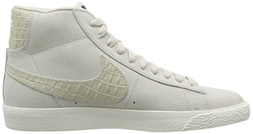 Nike Blazer Mid Prm Vntg, Zapatillas de Baloncesto para Hombre, Azul, Talla Blanco / Azul (Light Bone / Light Bone-Sail)