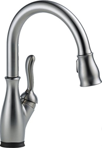 Delta C-spout Single Handle (Delta Faucet 9178T-AR-DST Leland, Single Handle Pull-Down Kitchen Faucet with Touch2O Technology and Magnetic Docking, Arctic Stainless)