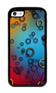 iPhone 5C Case,VUTTOO iPhone 5C Cover With Photo: Colorful Rings For Apple iPhone 5C - TPU Black