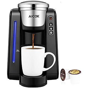 Amazoncom Aicok Single Serve Programmable Coffee Maker Five Brew