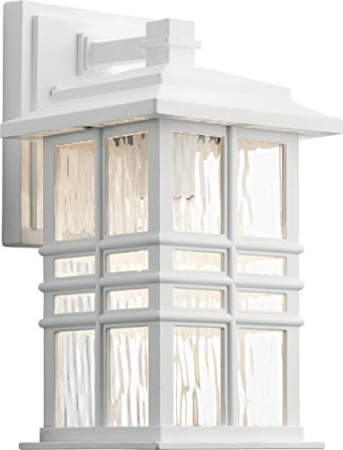 - Kichler 49829WH Beacon Square Outdoor Wall Sconce, 1-Light 75 Watts, White