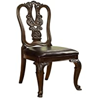 Furniture of America Linette Wooden Dining Side Chair, Set of 2