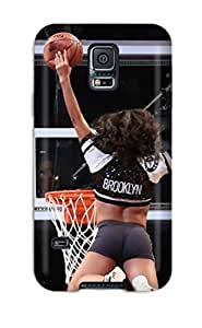 New Snap-on LeeJUngHyun Skin Case Cover Compatible With Galaxy S5- Brooklyn Nets Cheerleader Basketball Nba