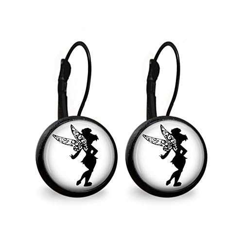 (Tinkerbell Silhouette Earrings- Black)