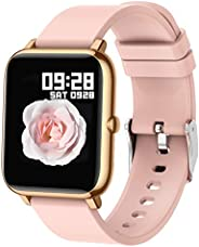 Smart Watch, Popglory Smartwatch with Blood Pressure, Blood Oxygen Monitor, Fitness Tracker with Heart Rate Mo