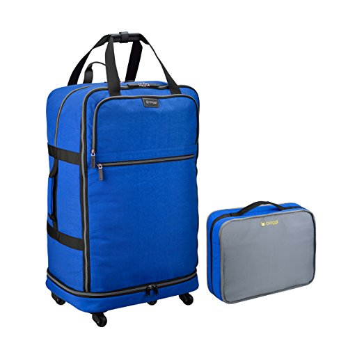 Biaggi Zipsak Micro-Fold Spinner Suitcase- 31-Inch Luggage - As Seen on Shark Tank - Cobalt Blue ()
