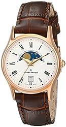 Claude Bernard Women's 39009 37R BR Classic Ladies Moon Phase Analog Display Swiss Quartz Brown Watch