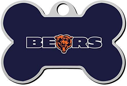 C-hicago Bears-Logo Personalized Pet Id Tag,Cute Bone Dog ID Tag,Pet Identification Tag,Gifts for Pet Lovers Chicago Bears Dog Tag