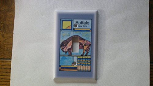 Prairie Buffalo Switch Plate - Bob Gregg Art - Frank Lloyd Wright Style - Buffalo NY ()