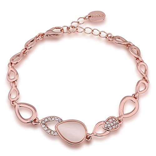 Boosic Adjustable Crystals Bracelet Plated