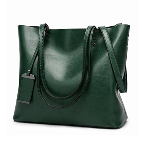 Vintage Simple Verde pelle Donna Borsa a Wild tracolla Messenger Ladies Baachang Donna in XwBqZ