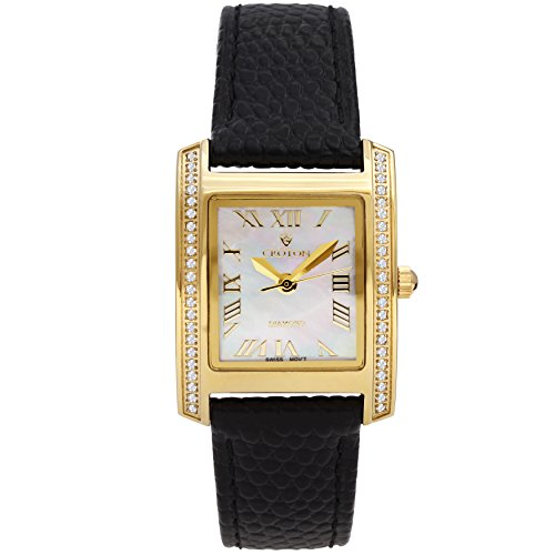 Ladies Croton Diamond Watch (Croton Ladies Swiss Quartz Diamond Case Watch with Mother of Pearl Dial - CN207057YLMP)