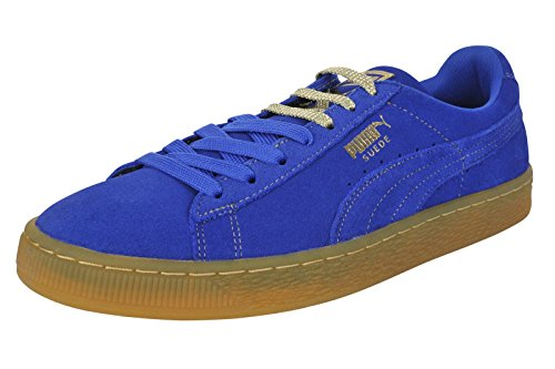 PUMA Men's Classic Suede Classic GF Sneakers (9.5 D(M) US, Surft The Web/Metallic Gold) - Metallic Suede Sneakers