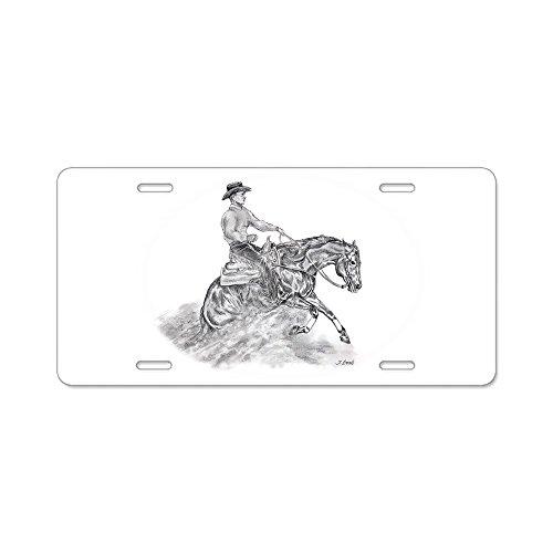 - CafePress - Reining Horse drawing Aluminum License Plate - Aluminum License Plate, Front License Plate, Vanity Tag