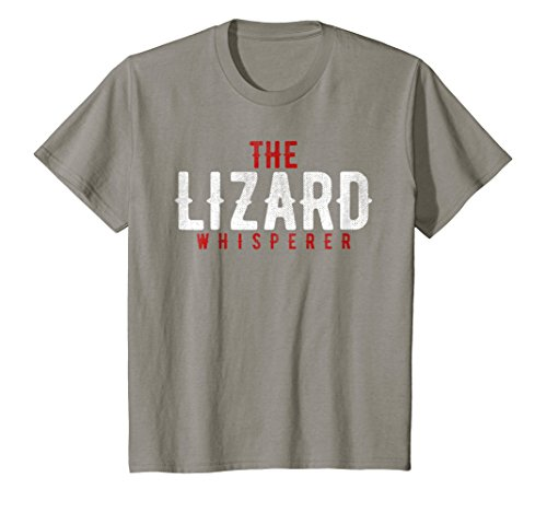 Price comparison product image Kids Lizard T Shirt - Pet Lizard, Gecko, Reptile Whisperer Gift 10 Slate