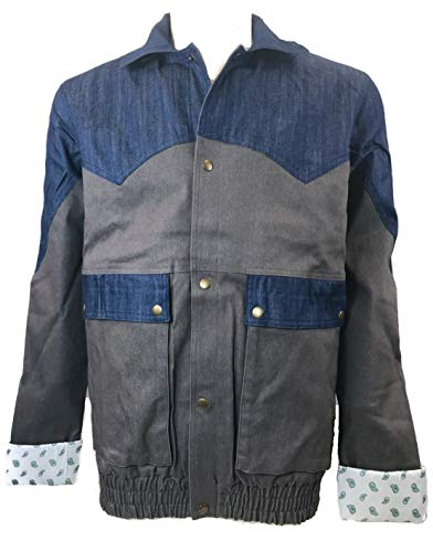 Marty McFly Denim Jacket Back to The Future 1985 Halloween Costume (M)