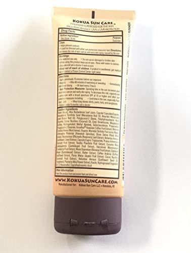 Kokua Sun Care Hawaiian Natural Zinc Sunscreen SPF 50/80 Minutes Water...