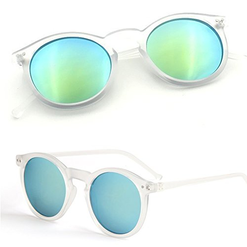 Best-topshop Vintage Style Unisex Eyewear Round Metal Frame Sunglasses Mirrored - Topshop Sunglasses