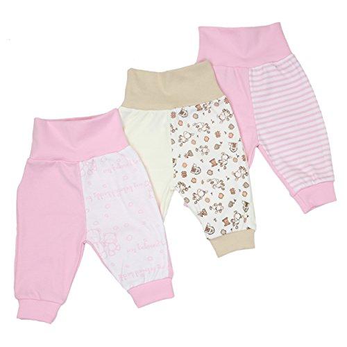 3er Set Baby Pumphose Jungen Babyhose Mädchen Schlupfhose 100% Baumwolle / Made in EU, Farbe: Mädchen, Größe: 56