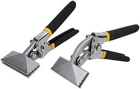 Universal Multi-Tool 80mm Metal Sheet Bending Pliers Manual Sheet Metal Bender Clamp Seamer Non-Slip Handle Seaming Pliers (Color : Straight Plier) Straight Plier