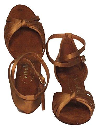 l Dance a Marrone tacco raso Women's Brown Tanganica Dance Shoes 5cm Sandalo Vitiello tanganica Shoes pIwaZqZ1