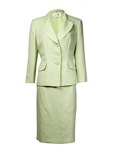 Le Suit Women's Plus-Size Tweed Jacket with Skirt and Scarf Suit Set, Pale Crabapple, 16