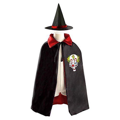 [DBT Funny joker Logo Childrens' Halloween Costume Wizard Witch Cloak Cape Robe and Hat] (Megamind Costume For Sale)