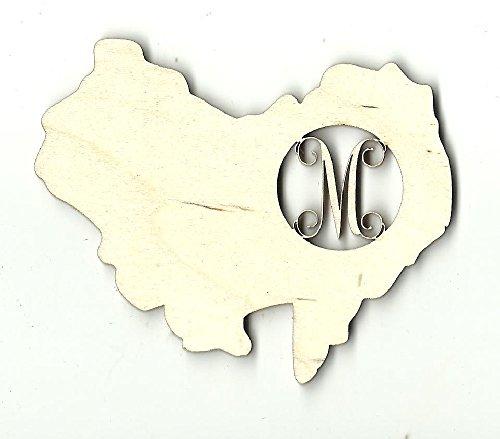 Laser Australia (Australia Monogram - Laser Cut Wood Shape MONO28)