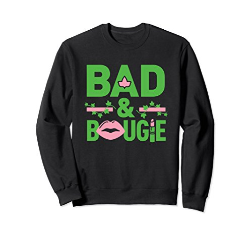 Unisex Bad and Bougie - Phirst Pham Pretty 1908 Pearls Alpha Kappa Small Black Alpha Kappa Alpha Sweater