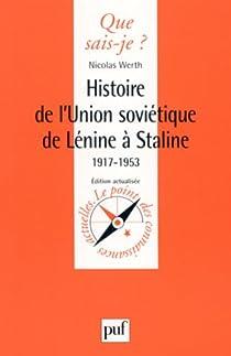 Histoire de l'Union soviétique de Lénine à Staline par Werth