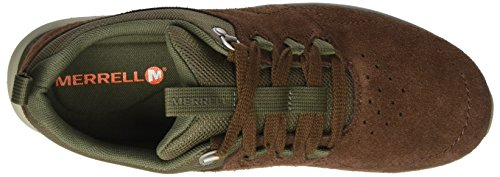 Marron Earth Dark Merrell Lace Locksley LTR Getaway Baskets Homme nWwfZC6q