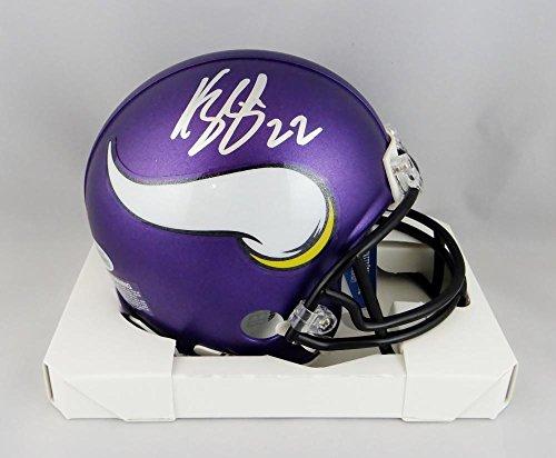 Harrison Smith Autographed Minn Vikings Mini Helmet - Beckett W Auth Silver ()